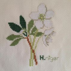 100 Handmade Fine Workmanship Finished Completed Cross Stitch Little Flower | eBay
