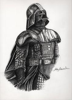 Darth Vader | By: Luke Forwoodson, via Behance (#starwars #darthvader)