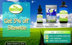 AbsorbYourHealth.com is offering 5% discount on sitewide items, Free U.S. Shipping on Orders $75 and also Money Back Guarentee. Snap up this offer now! For more Absorb Health Coupon Codes visit: http://www.couponcutcode.com/stores/absorb-health/