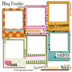 Free Polaroid Style Frames for Project Life from SammyD Kreations