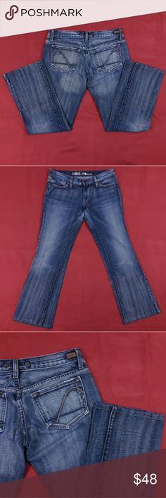 """NWOT Guess Foxy Blue Jeans ~ 29"""" Inseam Excellent Condition! No flaws. Size 27.  Measurements lying flat: Waist ? 15.5"""", Hips ? 19.5"""", Inseam - 29"""", Front Rise ? 7"""", Back Rise ? 12"""".  Please, review pictures. You will get the item shown. Smoke & pet free home. Guess Jeans Boot Cut"""
