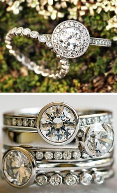 love the wedding bands!