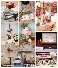 Travel Bridal Shower Inspiration Board