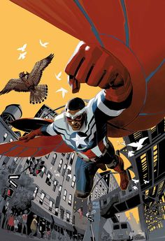 Captain America: Sam Wilson #1 and #2 by Daniel Acuna