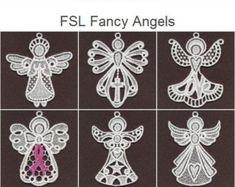 LFS Weihnachten Engel 2 Free Standing Lace Maschine von embhome