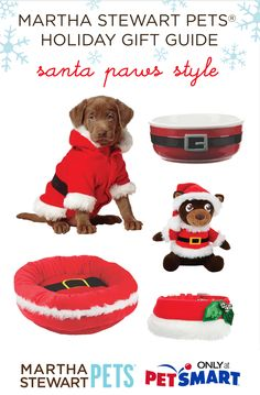 Here comes Santa Paws! Fun and festive holiday dog products from #marthastewartpets @petsmartcorp