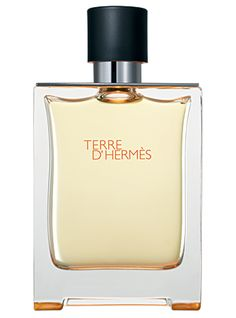 "Terre d'Hermes Hermes cologne - a fragrance for men 2006 - This vertically structured scent is based on an alchemy of wood, the scent first introduces the gaity of orange, the bitterness of grapefruit and the vivacity of pepper and of fresh spices. This ""vegetality"" flirts with the mineral effect of flint and the coarseness of vetiver. Dominated by cedar, the fragrance goes deeper with the sweetness of resins and the impalpable voluptuousness of benzoin."