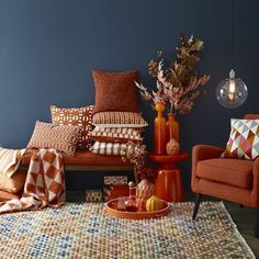 An array of rust toned accessories from West Elm Sleek Fall Colors for the New Season