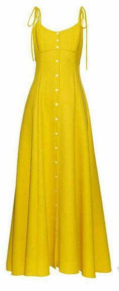 Rosie Assoulin High Garden button-down gown Simple Dresses, Pretty Dresses, Beautiful Dresses, Casual Dresses, Fashion Dresses, Long Dresses, Maxi Dresses, Chiffon Dresses, Lace Chiffon