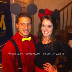 Couples Mickey and Minnie Mouse Costume... Coolest Halloween Costume Contest