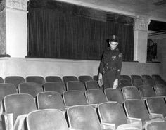 Inside the Texas Theatre where Lee Harvey Oswald was arrested at 1:50 P.M. on November 22, 1963 for the murder of Dallas police officer J.D. Tippett. He was taken into custody and questioned about the assassination of President John F. Kennedy. Two days later, Oswald would be assassinated by Jack Ruby in the garage of Dallas Police Headquarters as he was being transferred from the county to the city jail.