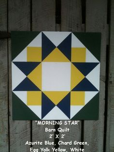 In May, I started painting Barn Quilts. I shared a couple quilts I made for my garden shed on this post. These by Barn Quilts are p. Barn Quilt Designs, Barn Quilt Patterns, Pattern Blocks, Quilting Designs, Star Quilt Blocks, Star Quilts, Painted Barn Quilts, Barn Signs, Barn Art
