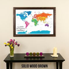 Classic world travel map with pins travel maps canvas colorful world travel map with pins gumiabroncs Image collections