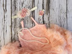 First birthday outfit girl. Tutu dress. Girl birthday outfit.  Petti skirt. Cake smash outfit. Blush pink tutu by KadeesKloset on Etsy https://www.etsy.com/listing/289415769/first-birthday-outfit-girl-tutu-dress