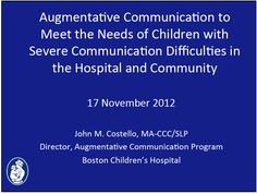 how to meet the needs of pupils with communication difficulties