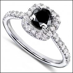 Wedding Rings with Black Stones