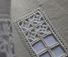 Hardanger Embroidery Ideas Humming Needles: I've been looking for new ideas for Hardanger and other pulled-thread work. Types Of Embroidery, Learn Embroidery, Hand Embroidery Stitches, Embroidery Techniques, Cross Stitch Embroidery, Embroidery Patterns, Loom Patterns, Hardanger Embroidery, Beaded Embroidery