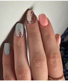 manicure | mani Monday | spring manicure | accent nail | glitter nails | cute nails #nailart