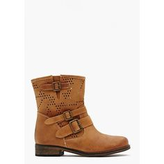 Oasis Buckled Boot - Camel ($138) ❤ liked on Polyvore