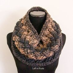 Class, style and luxury - you can find them all in the Celtic Winters Cowl.  A free crochet pattern and number 5 in the Seven Days of Scarfie!