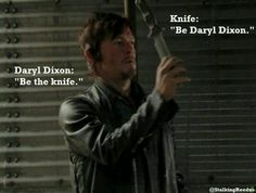 Daryl Dixon's knife throwing scene