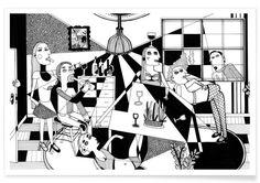 Party als Premium Poster von Studio Teer   JUNIQE