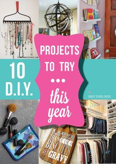 DIY Ideas to Try- Let's be inspired, shall we? Are you feeling ready to take on a beautiful new project? If you aren't, you will be after seeing all of this!