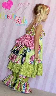 Blair's Bustled Knot Dress PDF Pattern from by CreateKidsCouture, $10.00