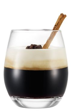 Italian Coffee - 2 cups whipping cream • 2 oz (60 ml) Galliano liqueur • 4 cups French roast coffee - In mixing bowl, combine whipping cream and Galliano liqueur. Mix until firm and set aside. Pour brewed French roast coffee into 4 heat-proof wine glasses. Top with liqueur mixture. Makes 4 servings.