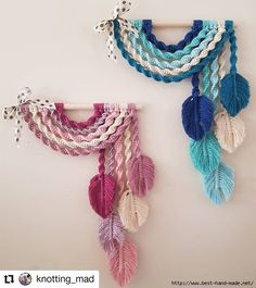 Diy Macrame Wall Hanging, Macrame Art, Macrame Projects, Macrame Knots, Crochet Projects, Macrame Patterns, Easy Patterns, Art Macramé, Diy Crafts