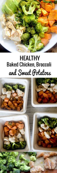 Healthy Baked Chicken, Broccoli, and Sweet Potatoes - Recipe Diaries - #healthy #mealprep