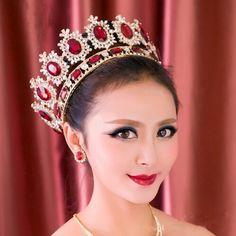 2015 royal crown gold/silver rhinestone tiara head jewelry quinceanera royal queen crown bride wedding mariage hair accessories