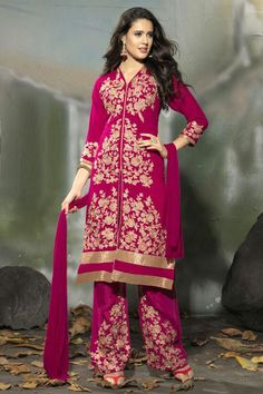 Amazing Pink Semi Stitched Party Wear Salwar Kameez EBSFSK15504H - Rs. 2027.00