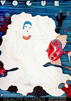 Vogue August 1933  fashion illustration by Eduardo Garcia Benito