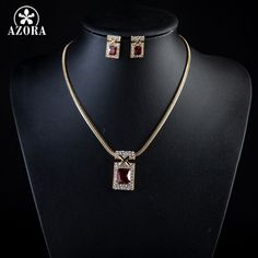 Trendy Set Unique Design Dark Red Cubic Zirconia Earrings and Necklace AAA All About Fashion, Love Fashion, Trendy Fashion, Fashion Trends, Cubic Zirconia Earrings, Crystal Earrings, Stud Earrings, Jewelry Sets, Jewelry Necklaces
