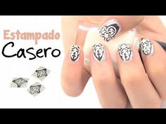 DIY: Diseño de uñas estampado casero. DIY: How to create a homemade print.