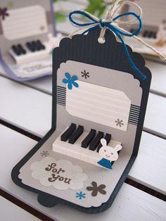 ピアノのタグカード