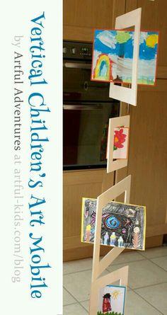 Children's Art Mobile or great idea for poetry! School Displays, Classroom Displays, Art Classroom, School Projects, Art Projects, Mobiles Art, Childrens Artwork, Ecole Art, Preschool Art
