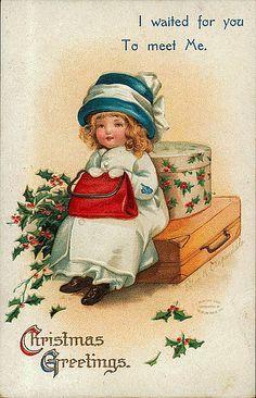 Ellen Clapsaddle- American - vintage Christmas postcard