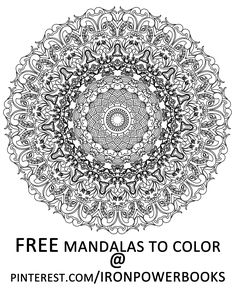 free intricate mandala design to color click here for 49 more mandalas you can color - Intricate Mandalas Coloring Pages