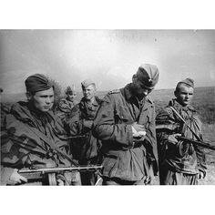 Soviet scouts with a captured German soldier in Lviv Oblast, 1944. #retro…