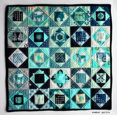 Mini Economy Block Quilt from Wombat Quilts