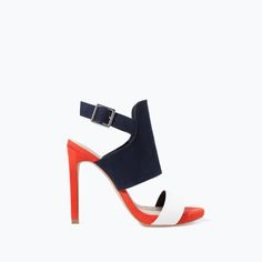 Image 1 of THREE-TONE HIGH HEELED SANDAL from Zara