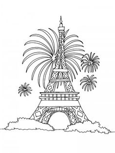 Eiffel Tower Colouring Pages Coloring Page Fancy Good Printable - Coloring Page Ideas House Colouring Pages, Fish Coloring Page, Online Coloring Pages, Coloring Pages For Boys, Animal Coloring Pages, Free Coloring Pages, Printable Coloring Pages, Disney Kawaii, Firework Colors