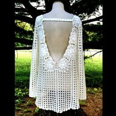 "Selling this ""Free People ivory white Crochet Pullover Sweater"" in my Poshmark closet! My username is: richbororiches. #shopmycloset #poshmark #fashion #shopping #style #forsale #Free People #Sweaters"