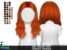 Sims 4 Hairs ~ Coupure Electrique: AdeDarma`s Lorena hair retextured - Handlettering Geburtstag Sims 4 Toddler Clothes, Sims 4 Mods Clothes, Sims 4 Cc Kids Clothing, Children Clothing, Mods Sims 4, Sims 4 Game Mods, Sims 4 Cc Skin, Sims Cc, Sims 4 Tsr