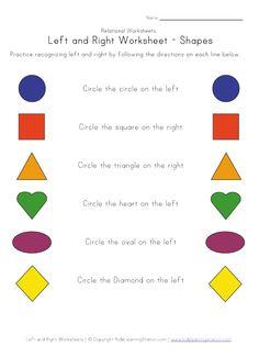 ... Left/ Right Discrimination on Pinterest | Worksheets, Maze and Symbols