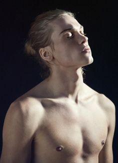 male model Emil Andersson by Carlos Montilla (guys, long blond hair) Rowan