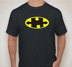 Batman Autism Awareness T-Shirt for Parent or Teacher on Etsy, $12.00