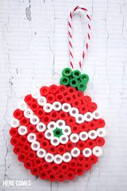 Perler Bead Christmas Ornaments You are in the right place about african Beading Here we offer you the most beautiful pictures about the gemstone Beading you are looking for. Perler Bead Ornaments Pattern, Perler Bead Templates, Pearler Bead Patterns, Diy Perler Beads, Perler Bead Art, Christmas Perler Beads, Beaded Christmas Ornaments, Beading Patterns Free, Weaving Patterns